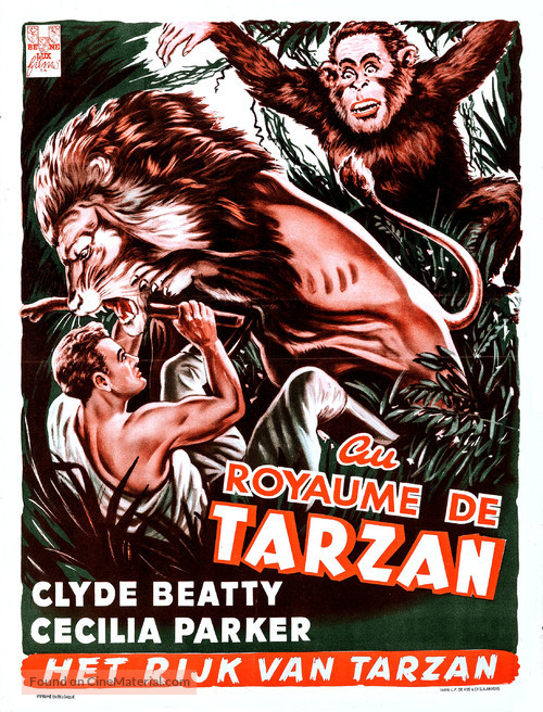 The Lost Jungle - Belgian Movie Poster