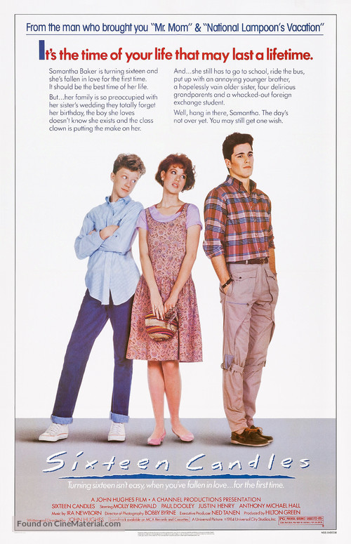 Sixteen Candles - Movie Poster