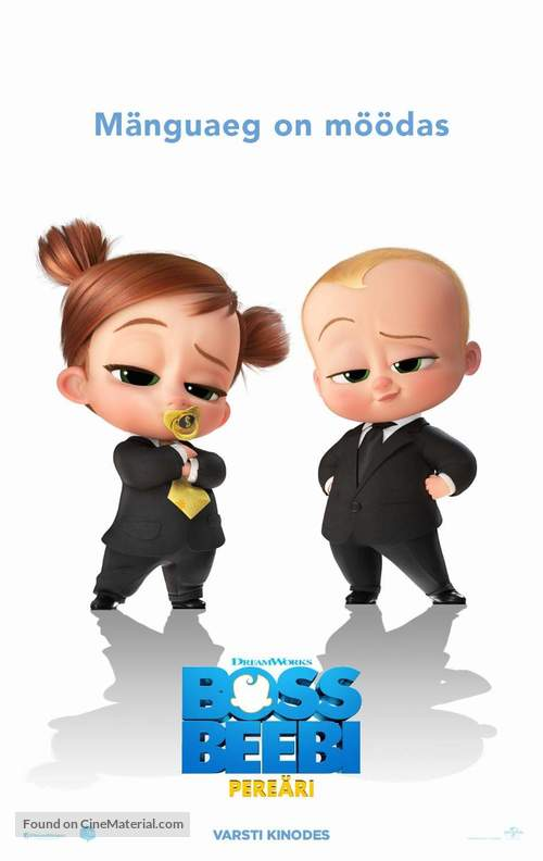 The Boss Baby: Family Business - Estonian Movie Poster