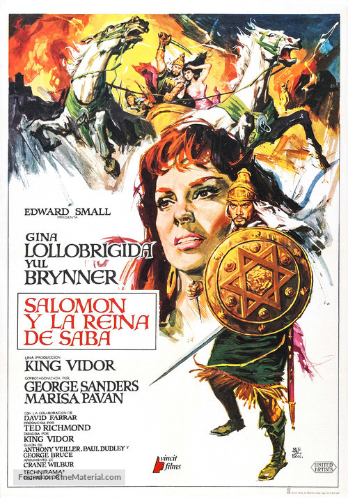 Solomon and Sheba - Spanish Re-release movie poster