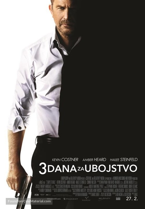 3 Days to Kill - Croatian Movie Poster