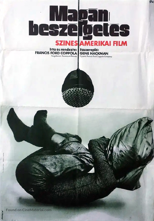The Conversation - Hungarian Movie Poster