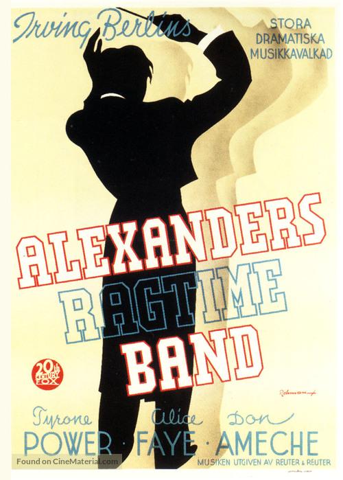 Alexander's Ragtime Band - Swedish Movie Poster