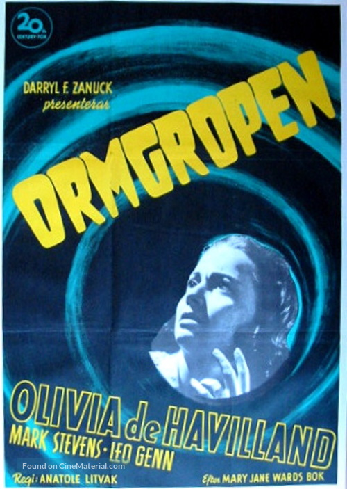 The Snake Pit - Swedish Movie Poster