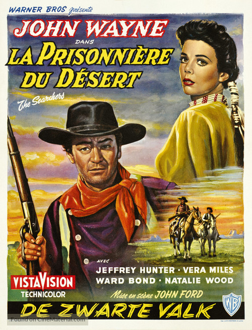 The Searchers - Belgian Movie Poster