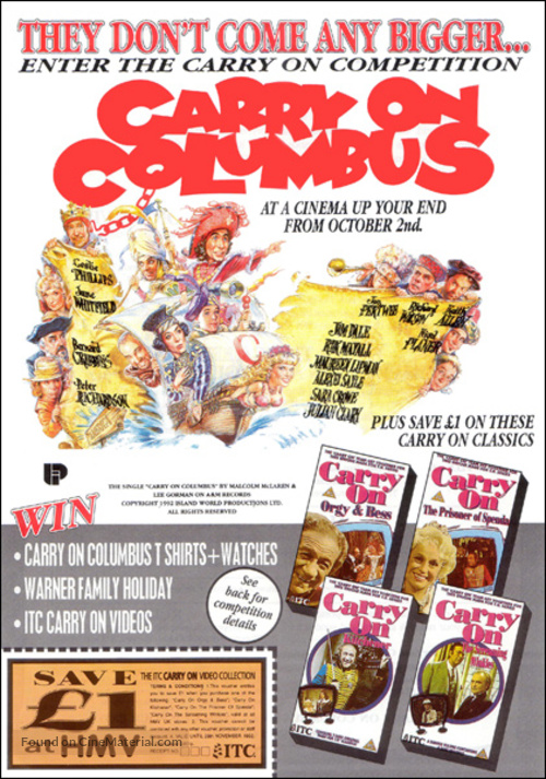 Carry on Columbus - Theatrical movie poster