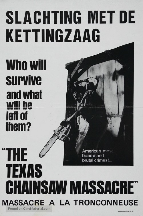 The Texas Chain Saw Massacre - Belgian Movie Poster