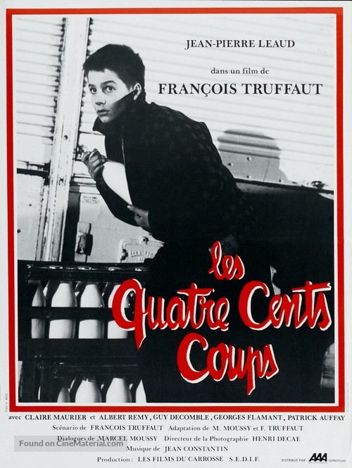 Les quatre cents coups - French Movie Poster