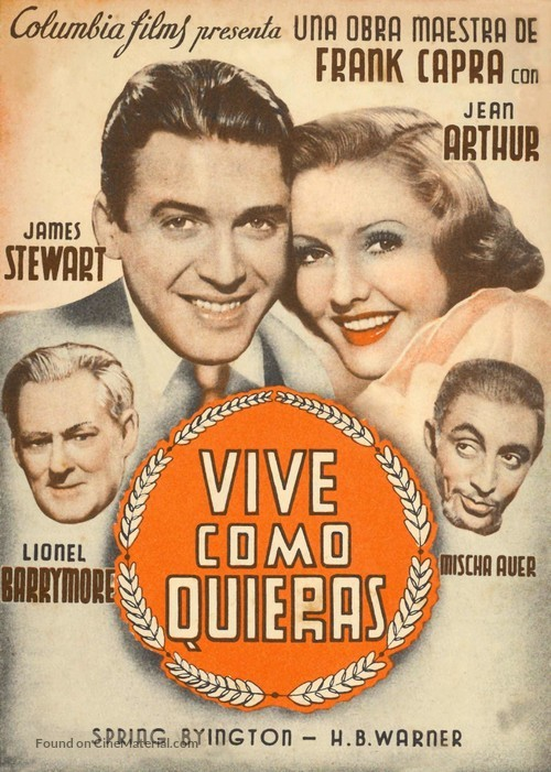 You Can't Take It with You - Spanish Movie Poster