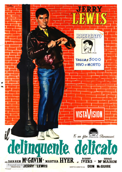 The Delicate Delinquent - Italian Movie Poster