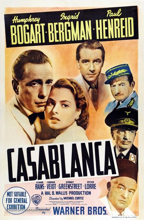 Casablanca - Australian Movie Poster