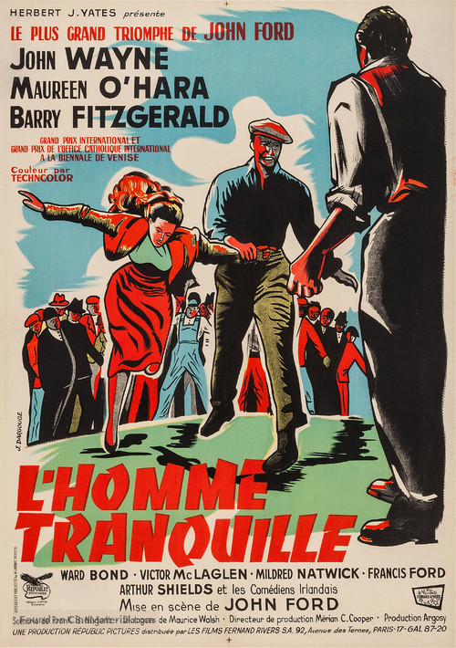 The Quiet Man - French Movie Poster