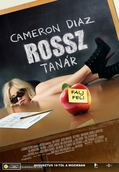Bad Teacher - Hungarian Movie Poster