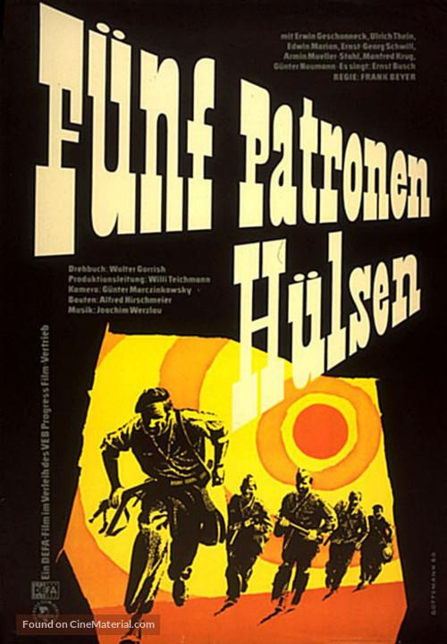 Fünf Patronenhülsen - German Movie Poster