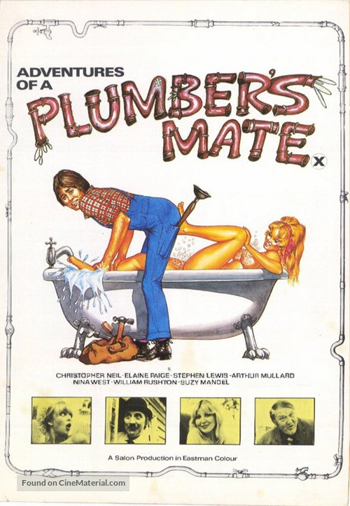 Adventures of a Plumber's Mate - British Movie Poster