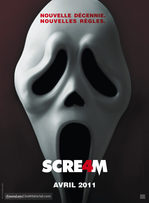 Scream 4 - French Movie Poster