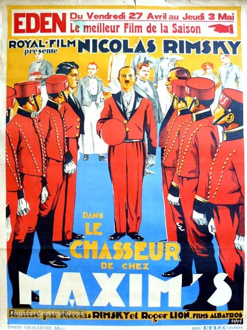 Le chasseur de chez Maxim's - Belgian Movie Poster