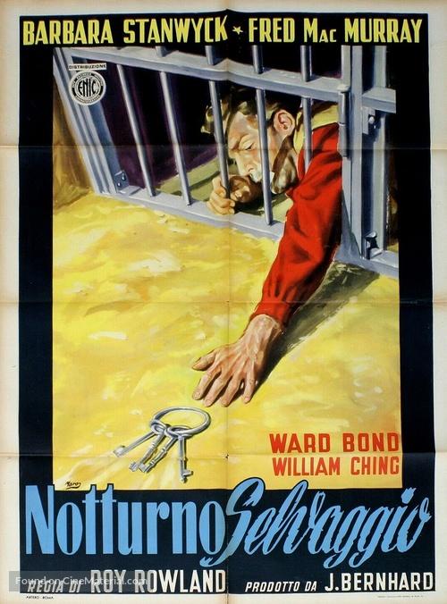 The Moonlighter - Italian Movie Poster