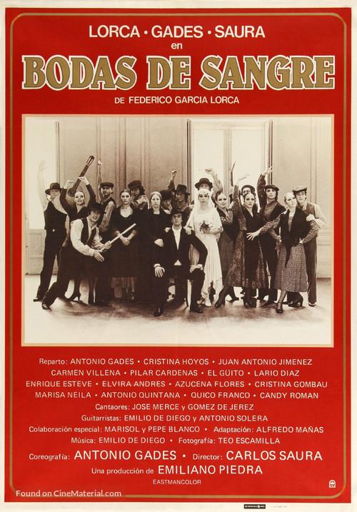 Bodas de sangre - Spanish Movie Poster