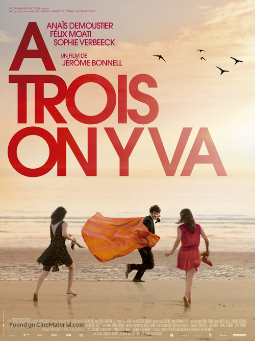 À trois, on y va - French Movie Poster