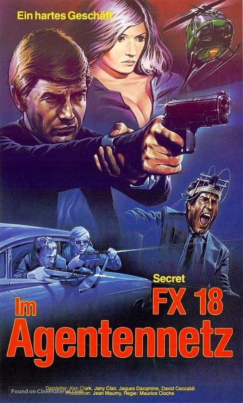 Agent secret FX 18 - German VHS movie cover