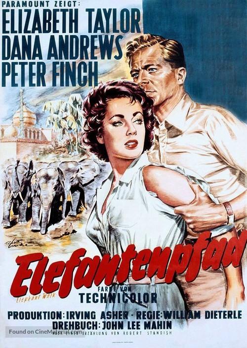 Elephant Walk - German Movie Poster
