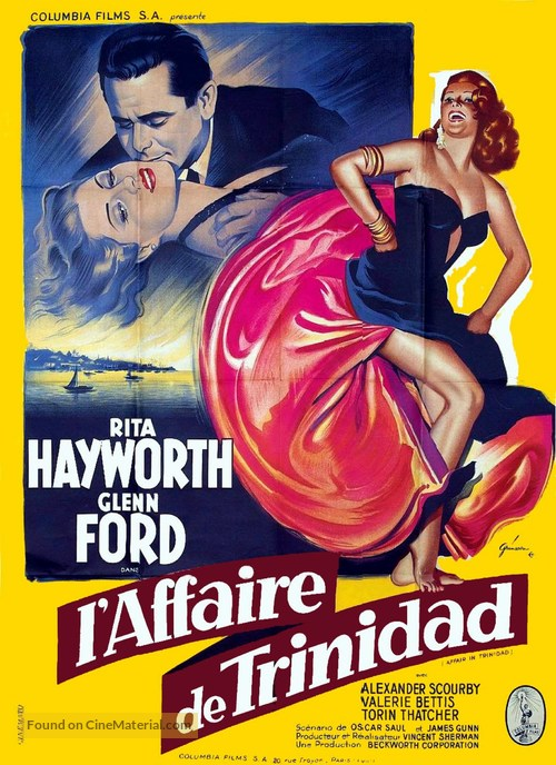 Affair in Trinidad - French Movie Poster