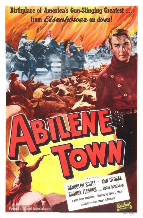 Abilene Town - Movie Poster