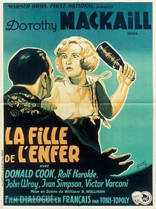 Safe in Hell - French Movie Poster