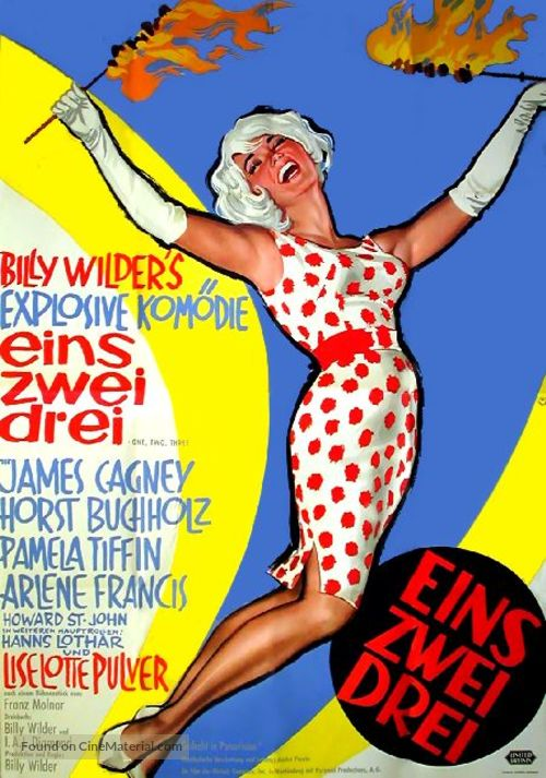One, Two, Three - German Movie Poster