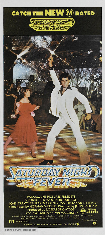 Saturday Night Fever - Australian Movie Poster