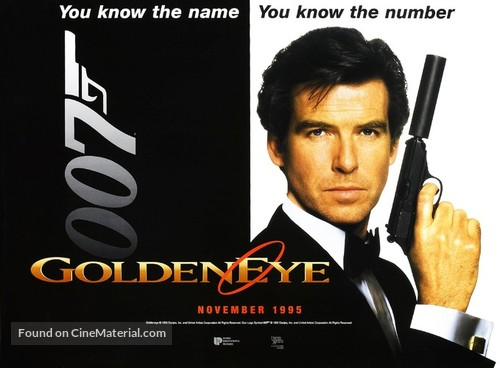 GoldenEye - British Movie Poster