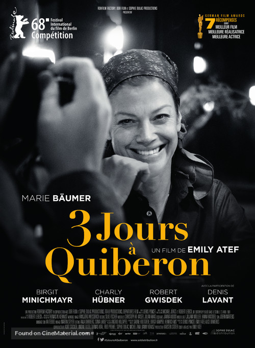 3 Tage in Quiberon - French Movie Poster