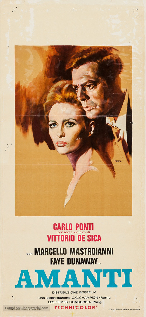 Amanti - Italian Movie Poster