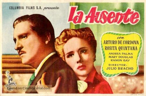 La ausente - Mexican Movie Poster
