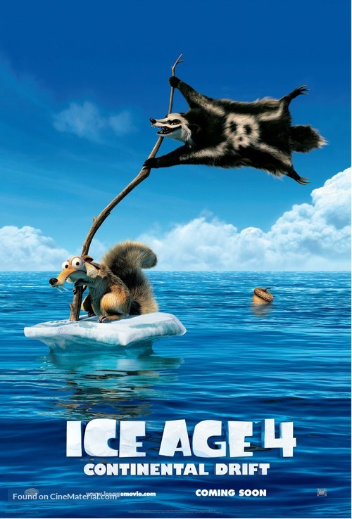 Ice Age: Continental Drift - Movie Poster