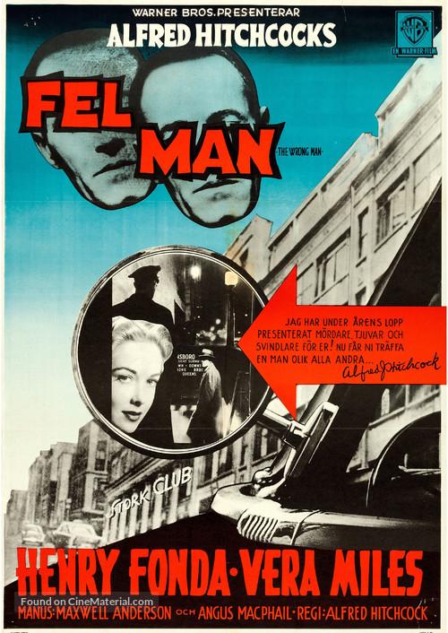 The Wrong Man - Swedish Movie Poster