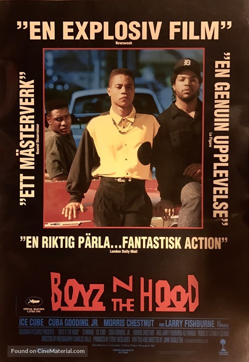 Boyz N The Hood - Swedish Movie Poster