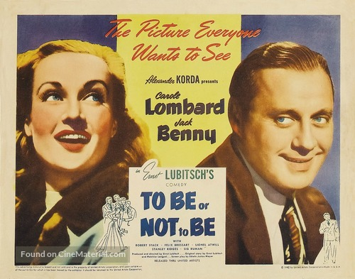 To Be or Not to Be - Movie Poster
