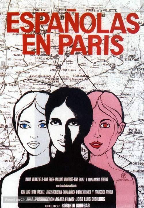 Españolas en París - Spanish Movie Poster