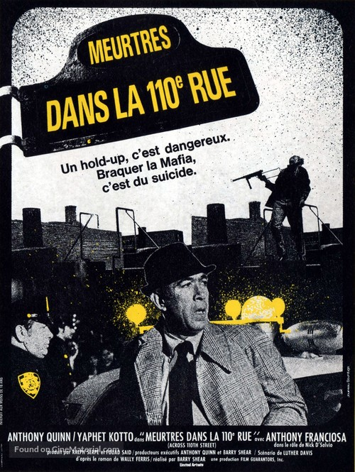 Across 110th Street - French Movie Poster