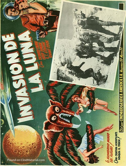 Missile to the Moon - Mexican Movie Poster