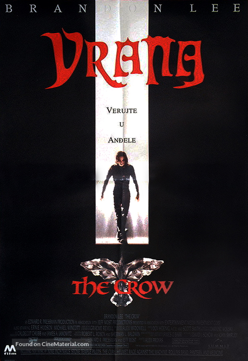 The Crow - Serbian Movie Poster