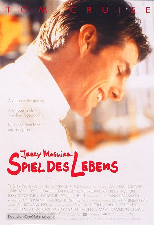 Jerry Maguire - German Movie Poster