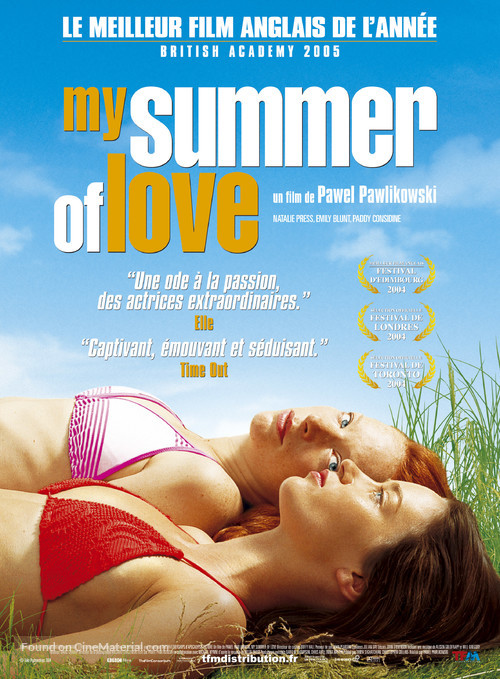My Summer of Love - French Movie Poster