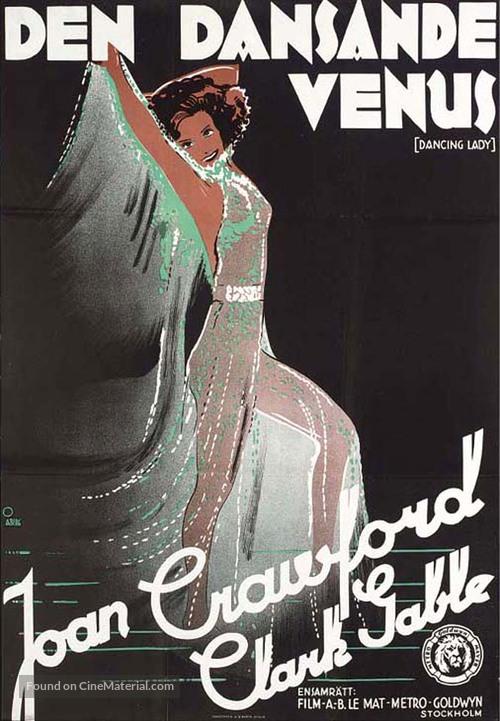 Dancing Lady - Swedish Movie Poster