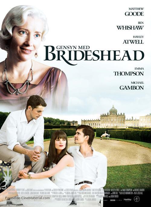 Brideshead Revisited - Danish Movie Poster