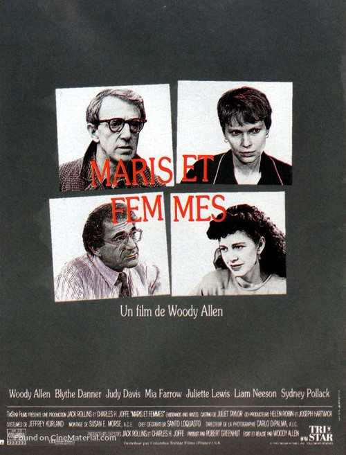 Husbands and Wives - French Movie Poster