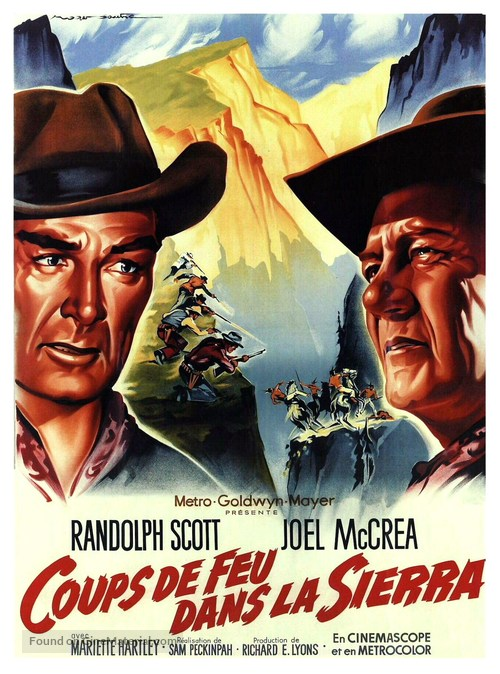Ride the High Country - French Movie Poster
