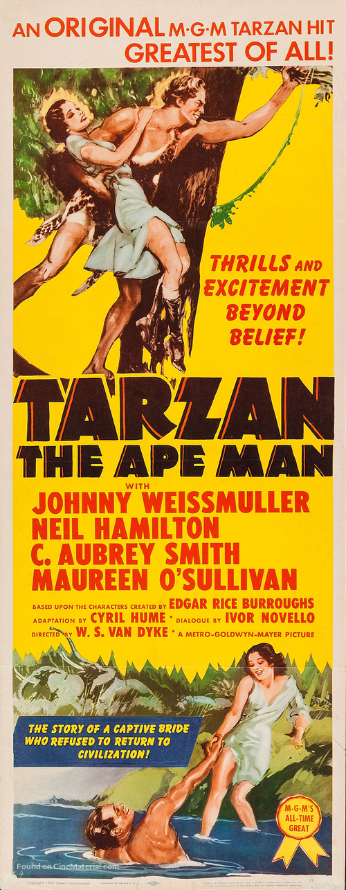 Tarzan the Ape Man - Movie Poster